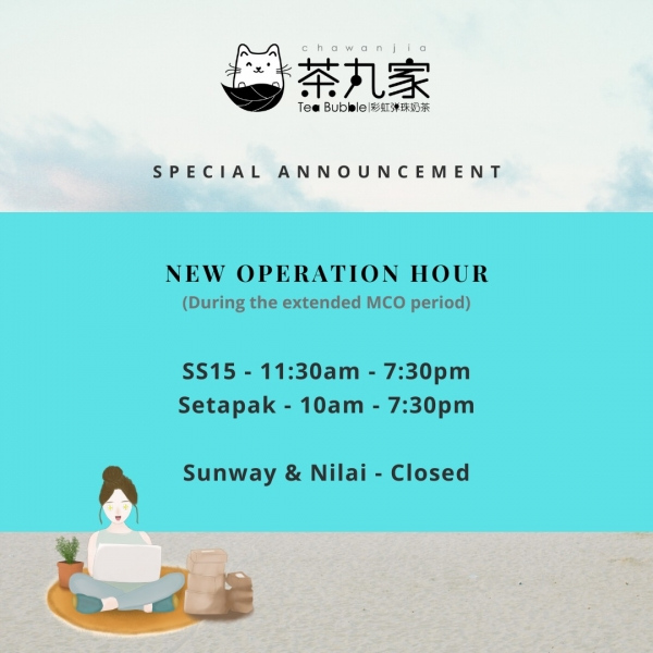 New operation hour during extended MCO period